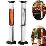 CRZJ Outdoor-Kocher, Garten Heizung, Kohleheizung, Infrarot, 2700W, Fernbedienung, LED, Spritzschutz