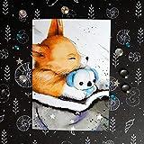 Corgi Postkarte - kleiner Hund - Taufkarte Liebe Grußkarte - Geschenk zur Geburt