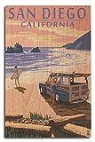 PotteLove San Diego California Holzschild mit Holzschild, 10 x 15 cm