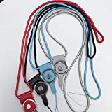 Alician Multifunktions-Mode abnehmbare Lanyard einfarbig Handy Lanyard zufllige Farbe