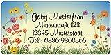 Adressaufkleber - Adressetiketten - Namensetiketten Feldblumen - 210 Stück 54 x 25 mm, 1-5 Zeilen...