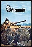 Schatzmix Retro Die Wehrmacht (Soldat mit Panzer) Metallschild Wanddeko 20x30 Blechschild, Blech,...