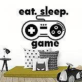 sanzangtang Gamer Kinder wandtattoos Essen Schlaf Spiel Controller Video Dekoration wandaufkleber...