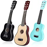 COSTWAY 21' Kindergitarre, Konzertgitarre 6 Saiten, Kinder Ukulele mit Plektrum, Kinder Gitarre,...