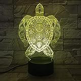 XKALXO Led Touch Tischlampe Strong Turtle Pattern Lights Led 7 Farben Wechselnde Nachtlichter Als...