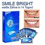 White Strips 3D 28pcs Zahnaufhellung Zahn Bleaching Strips für Weißere Zähne Zahnweiß Streifen...