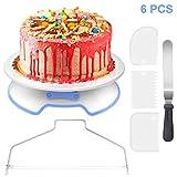 WisFox Tortenplatte Drehbar Abschließbar Tortenständer Kuchen Drehteller Cake Decorating Turntable...