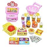 SM SunniMix Kinder Rollenspiel Spielzeug Supermarkt Lernspiel Set mit Registrierkasse,...
