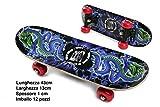 Odg S.R.L Kinder Skateboard Piccolo, 43 cm, ODG101, Multicolor, 874022