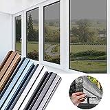 KINLO Folie Spiegel Schwarz-Grau 75x300 CM Sonnenschutzfolie selbstklebend Sichtschutzfolie...