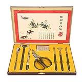 8 STÜCKE Essen Krabben Werkzeug Set, Professionelle Hummer Krabben Cracker Werkzeuge Edelstahl...