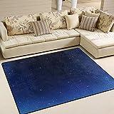 JINCAII Schöne Nacht Star Sky waschbar Bereich Teppich rutschfeste super weiche Farbe Bereich...