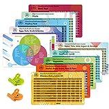 Mlife Keto Cheat Sheet Magnets (10 Stück), ketogene Diät-Produkte für Anfänger, Quick Guide...