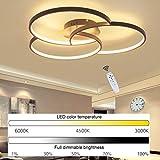 38W LED Deckenleuchte Moderne Dimmbar mit Fernbedienung Deckenlampe Wohnzimmerleuchte...