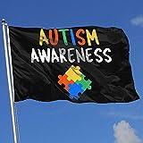 Elaine-Shop Outdoor Flags Autismus Awareness 4 * 6 Ft Flagge für Wohnkultur Sport Fan Fußball...