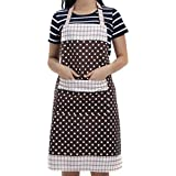Veewon Damen Kchenschrze mit Taschen Restaurant Flirty Schrzen fr Damen Koch, Cupcake, Cafe und...