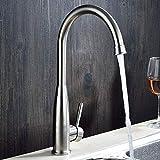 Küchenrotation aus Edelstahl Küche 304 Edelstahl Warm- und Kaltwasserhahn,Wasserfall Wasserhahn...