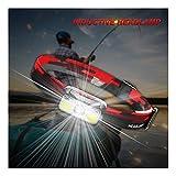 huichang LED Stirnlampe, USB Wiederaufladbare LED Wasserdicht Kopflampe mit 6 Lichtmodi 800lm,...