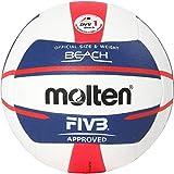 Molten Europe Ball-V5B5000-DE Beachvolleyball, Wei/Blau/Rot, 5