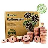 Natrlicher Mottenschutz aus Zedernholz  40 Mottenringe  100% Naturprodukt  Hervorragende...