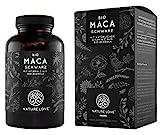 NATURE LOVE Bio Maca Kapseln - 3000mg Bio Maca schwarz je Tagesdosis. 180 Kapseln. Mit natürlichem...