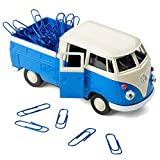 Magnetischer Büroklammerspender VW Bus Bulli T1 Transporter Pritschenwagen – Klammerspender inkl....
