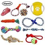 PEDY Hundespielzeug Set,interaktives Spielzeug,Pet Rope Spielzeug,mit verschiedenen Farbe und Form,...