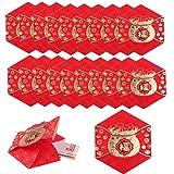 Yesoa Briefumschläge, chinesisch, Rot, goldene Muster, 2020, chinesische Ratte, Jahr, Rot, Papier,...