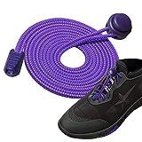 Siaomo Schnürsenkel mit Verschluss-System, elastisch, rund, sportliche Schnürsenkel für Sneaker,...