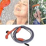 Szlsl88 12V Tragbar Zelten Dusche Pumpe, Praktische Außen Mini Auto Dusche Set Tragbar Wasser Spray...