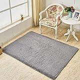 KFEKDT Moderner super weicher rechteckiger Teppich Flauschiger Teppich Rutschfester pelziger Teppich...