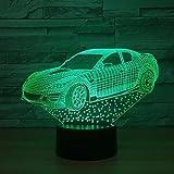 3d lampe super schnelle design auto 7 farbe led nacht lampen für kinder touch led usb tisch baby...