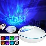 Projektor Lampe Ozeanwellen Projektor Kinder Nachtlicht mit Bluetooth 5.0, Fernbedienung und Timer...