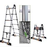 GNSDA Teleskopleiter, Erweiterung Mehrzweck 10,5 ft Aluminium Industrie Kompakt Loft Leitern...