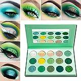 Lidschatten Palette Grüne Matt Glitzer,Afflano Avocado-Green Eyeshadow Palette Makeup...