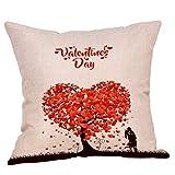 Abdeckung Abdeckung, Happy Valentinstag Baumwolle Throw Kissenbezug Square Sofa Taille Kissenbezug,...
