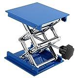 Hubtische Blau Galvanik Aluminium Labor Hebeplattform Ständer Rack Scherenheber 100 x 100mm Labor...