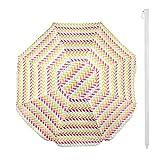 Aktive 62113 Strandschirm, 200 cm, UV-Schutz 50+