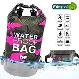 Idefair Wasserdichter Packsack, Schwimmender Trockenrucksack Strandtasche Leichter Trockensack für...