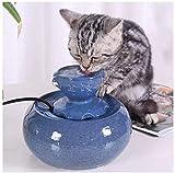 L.TSA Keramik-Trinkbrunnen fr Hunde oder Katzen fr Katzen, Haustier-Wasserspender mit 6 *...