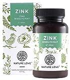NATURE LOVE Zink - 25mg - 365 Tabletten (1 Jahr) - Hochdosiertes Zink-Bisglycinat (Zink Chelat) von...