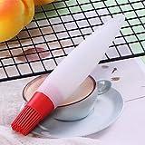 DishyKooker Tragbare Silikonölflasche mit Bürstenkopf Backen BBQ Basting Pinsel Barbecue Tool...