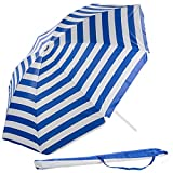 Royal Gardineer Strandschirm: 2-teiliger Sonnenschirm mit Sonnenschutz UV30+ und Tasche,  160 cm...