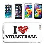 Reifen-Markt Handyhülle kompatibel für Samsung Galaxy S3 I Love Volleyball Strand Volleyball Beach...