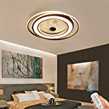 Unsichtbares Fan licht Einstellbar modern LED Deckenventilator mit Beleuchtung Schlafzimmer Fan...