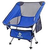 BACKTURE Campingstuhl, Ultraleicht Tragbar Leicht Faltbar Camping Stuhl bis zu 150 kg stark und...