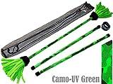 COMMANDO Profi Flowerstick Set (UV-Grun) mit 2mm Silikon-Krper und Handstbe! Flames N Games Flower...