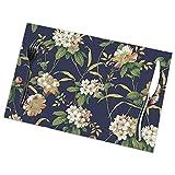 Rhododendron Tischsets Teller Matten für Esstisch 6er Set