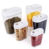 5 Stück Abschließbar Stapelbar lebensmittel vorratsdosen Clear Acryl Kunststoff Lagerung Gläser...