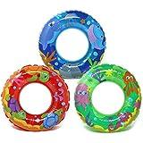 com-four 3X Schwimmreifen - Kleiner Schwimmring fr Badespa - Kinderschwimmreifen mit verschiedenen...